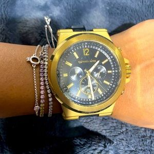 Men Oversized Dylan Gold-Tone and Silicone Watch